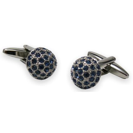 manschettenkn pfe kugel kristall blau herren accessoires. Black Bedroom Furniture Sets. Home Design Ideas